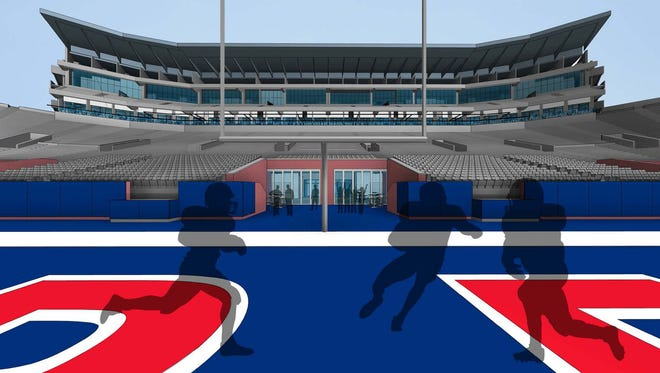 Ole Miss released plans for a new field level club stadium, to be open in time for the 2015 season.