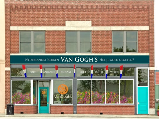 A rending shows what the front of Van Gogh's Eeterie