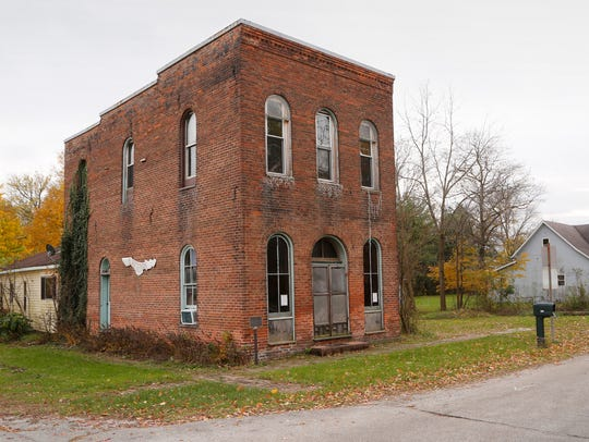 The historic Rosenberger building Monday, November