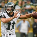 With one preseason game left, Tim Tebow (pictured) is in a battle with Matt Barkley for the third quarterback position on the Eagles' roster.