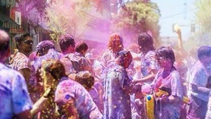 """Holi Fest 2015, set for May 16 in downtown Alexandria, will feature a """"Colors"""" celebration which is free to the public."""