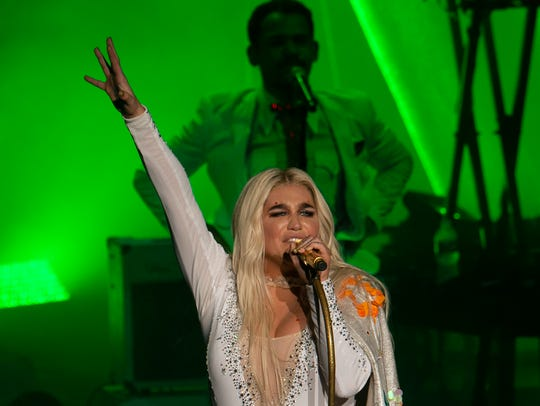 Kesha performs at the  PNC Arts Center in Holmdel on