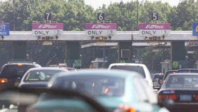 Traffic is backed up on the Garden State Parkway in Middlesex County Wednesday morning due to multiple accidents.