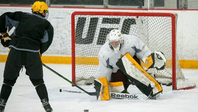 Robert Levin was back in goal for ASU hockey on Friday in a 5-1 loss at Connecticut.