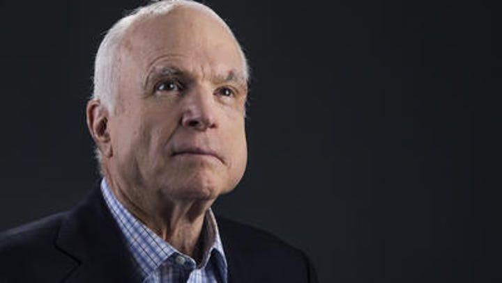 Arizona Sen. John McCain saved the best for last
