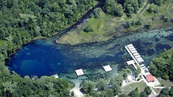 Aerial view of Wakulla Springs