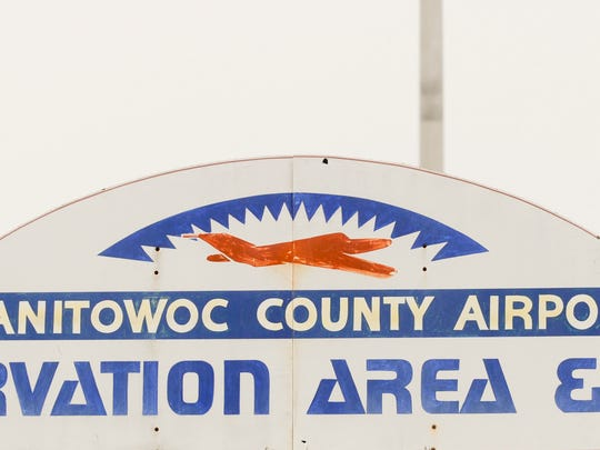 Manitowoc County Airport sign.