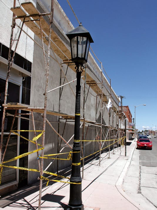 Al's TV and Radio Shack is getting a facelift to the south side wall on Spruce St., courtesy of Wells Fargo Bank and the Deming MainStreet Project. The wall is being resurfaced and DMS will seek additonal funding for materials and to commission an artist to paint a mural.