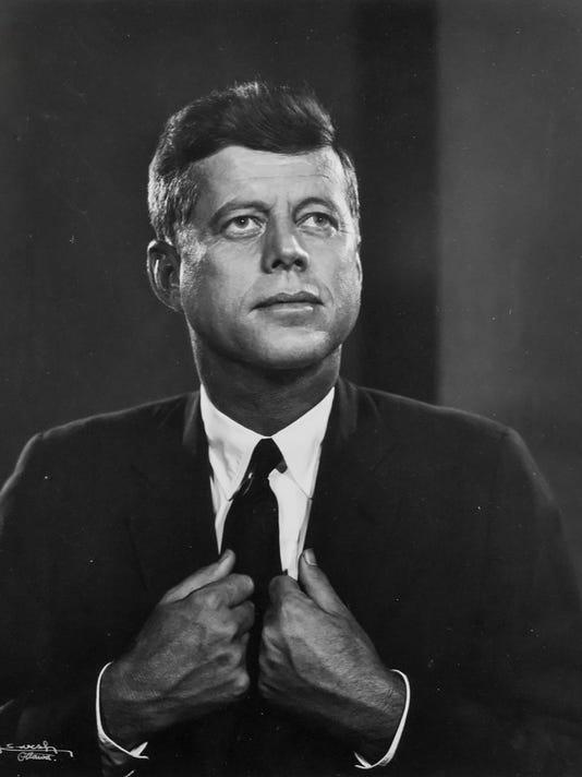 Signed Kennedy photo