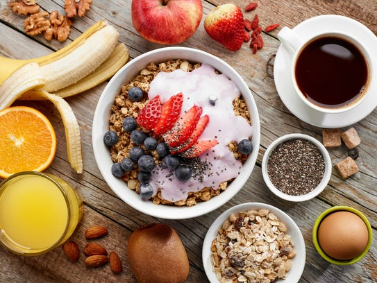 Avoid sugary breakfast foods and go for whole grains,