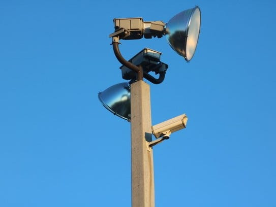 A security camera at Morris Court Park in Pensacola