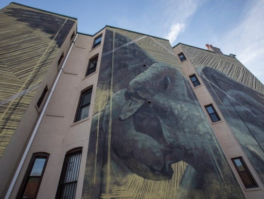 A mural completed in Jersey City.