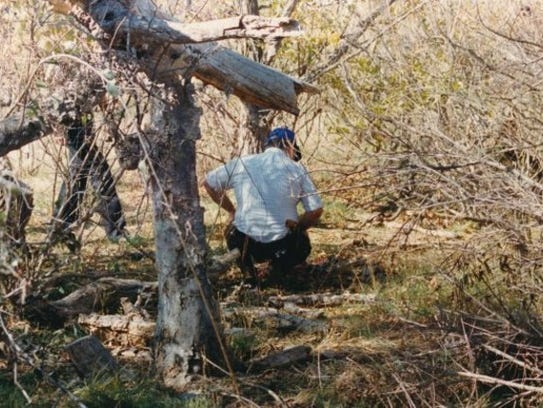 A Tom Green County Sheriff's investigator examines