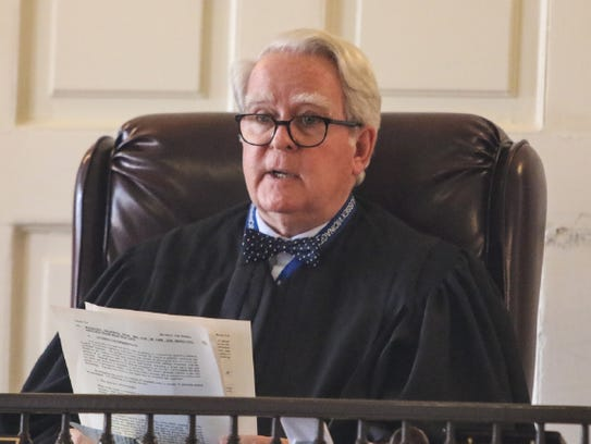 Superior Court Judge Paul Armstrong in Morristown.