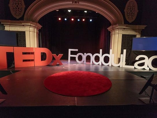 TEDxFondduLac stage set for the day on Saturday, Aug.