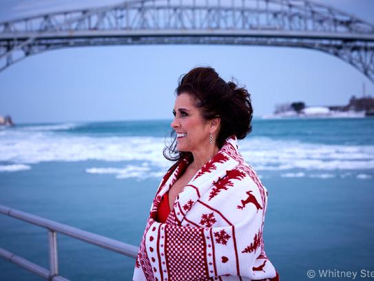 Carol Nemecek wears red to bring awareness to women's
