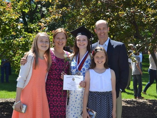 The Gillette family, after Carly's graduation from