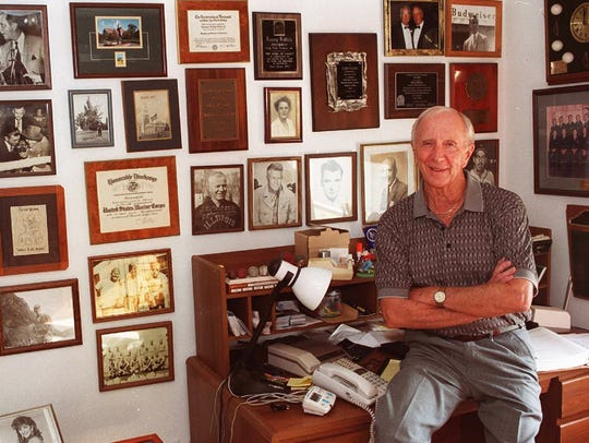 Larry Killick is photographed in the office in his