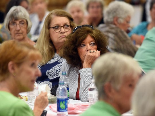 Area women listen to health care professionals Thursday during the 7th Annual Women's Health Forum at the Baxter County Fairgrounds.