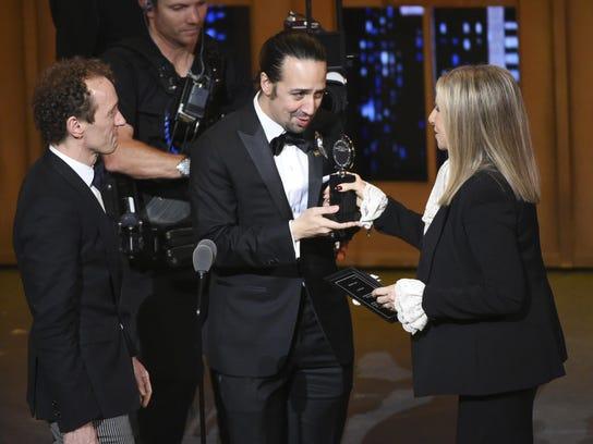 Jeffrey Seller,Lin-Manuel Miranda,Barbra Streisand