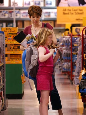 A new survey finds that Americans with K-12 kids will spend a total of $24.9 billion, averaging $630-plus per household.