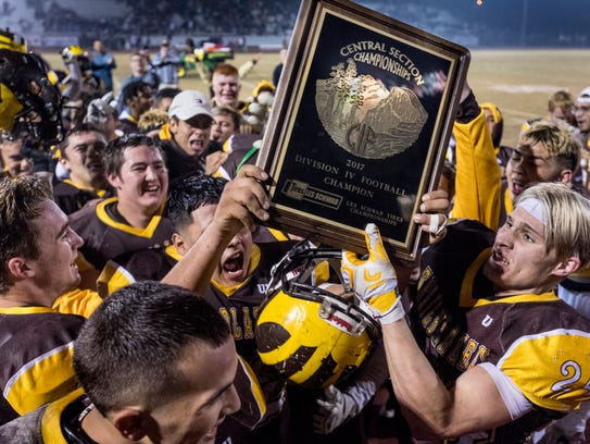 Golden West celebrates their win over Central Valley