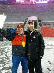 From left, John Malin, Kimberly football's announcer,