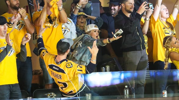 Carrie Underwood is so excited to see husband Mike Fisher back in the NHL