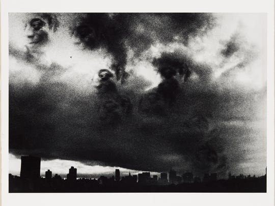 """James Baldwin in Setting Sun over Harlem, New York,"" 1991, Ming Smith, gelatin silver print. Detroit Institute of Arts. From the exhibit titled, ""Art of Rebellion: Black Art of the Civil Rights Movement"" at the DIA July 23 - Oct. 22, 2017."