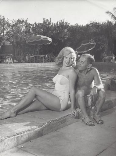 Marilyn Monroe with her agent, Johnny Hyde, of the