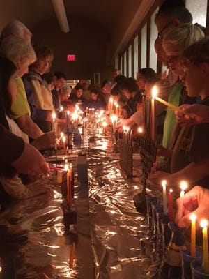 Temple Beth-El in Las Cruces will celebrate Hanukkah at 5:30 p.m. Friday, Dec. 15 at the temple, 3980 Sonoma Springs Ave.