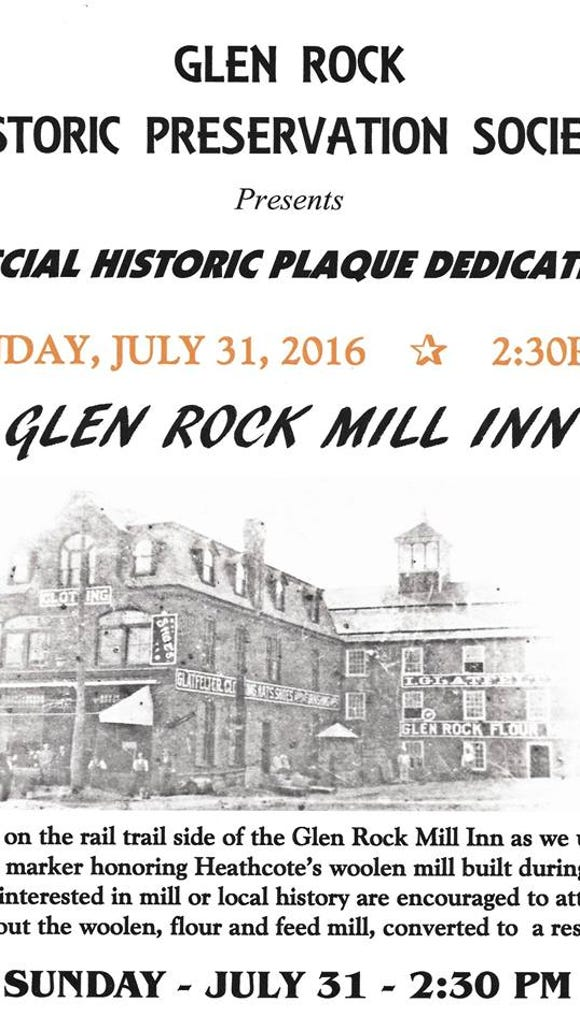 The borough's active history organization - the Glen Rock Historic Preservation Society - documents the significance of a different building each year. The group creates plaques explaining the heritage of various structures.