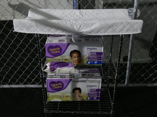 Diaper-changing tables are part of the temporary detention