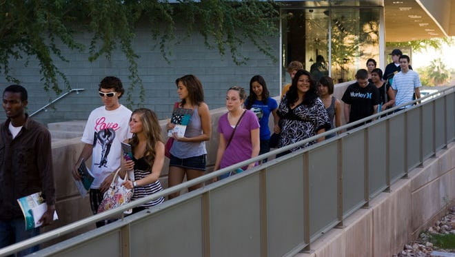 Students  at Chandler-Gilbert Community College-Pecos campus.