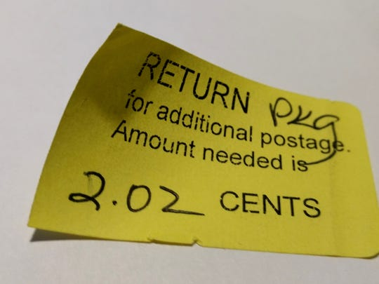The Postal Service puts in its 2 cents (plus some millage)