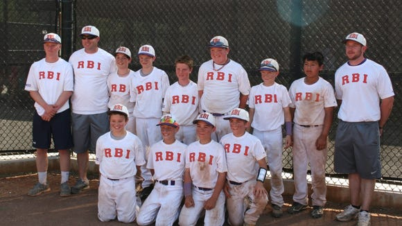 The RBI 11 and under baseball team.