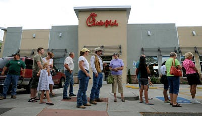image regarding Printable Cow Spots Chick Fil a called Chick-fil-A marketing free of charge food stuff for Cow Appreciation Working day