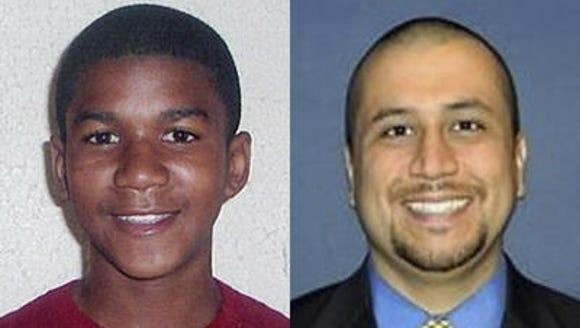 Trayvon Martin (left) was shot and killed neighborhood