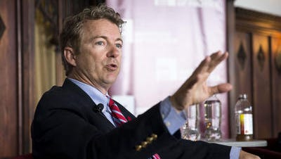 Sen. Rand Paul, R-Ky., speaks during an event at the University of Chicago's Ida Noyes Hall in Chicago on Tuesday, April 22, 2014.