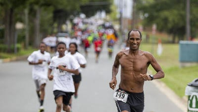Gebre Kiros led hundreds of runners and walkers at the Florida A & M Healthy Families 5K Run/Walk/Stroll from Bragg Stadium to Cascades Park on Sunday. The 5K was to celebrate FAMU's 11th president Dr. Elmira Mangum's inauguration this week.