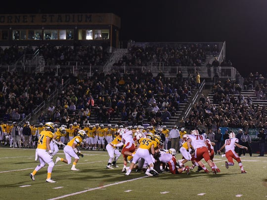 The Chiefs and Hornets go at it Friday night. The back-and-forth game thrilled the large crowd at Saline.