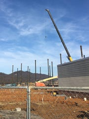 Construction of the Fulton County Medical Center expansion photographed on Friday, January 13, 2017.