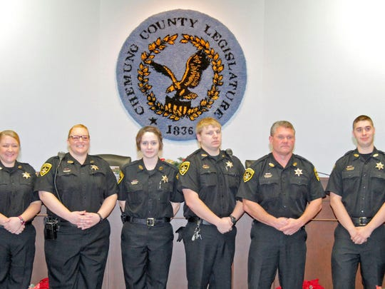 Seven of Wednesday's graduates from the 2014 Basic