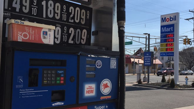 A Mobil station in Bradley Beach on Wednesday was selling regular gasoline for $1.49 a gallon.