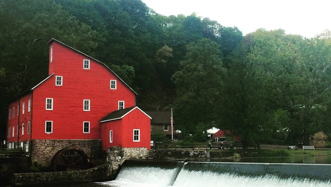 The iconic Red Mill in Clinton houses the Red Mill Museum Village.
