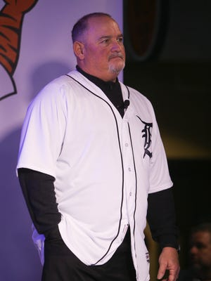 Tigers pitching coach Chris Bosio during TigerFest at Comerica Park on Saturday, Jan. 27, 2018.