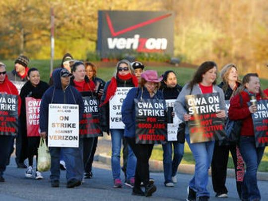 Verizon Communications employees are unhappy the company has sent jobs overseas.