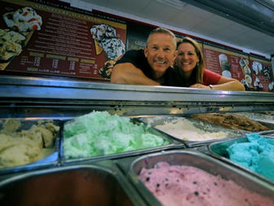 Joe and An Luethmers purchased the Cold Stone Creamery at 112 W. Laurel St. in 2010. The creamery closed at the end of December and will reopen in Campus West.