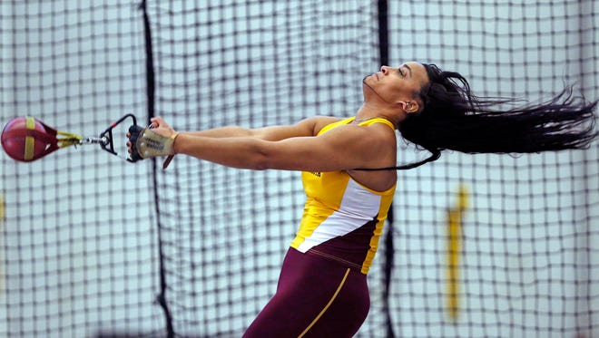 Nina Horvath, a Stevens Point Area Senior High graduate, hopes to set a University of Minnesota record in the weight throw.