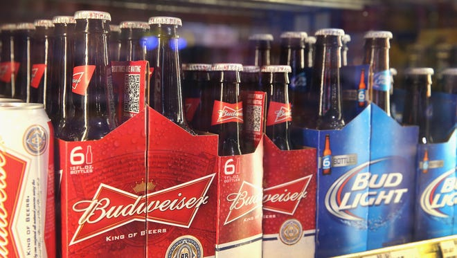 Anheuser-Busch InBev products are offered for sale on September 15, 2014 in Chicago. Illinois.